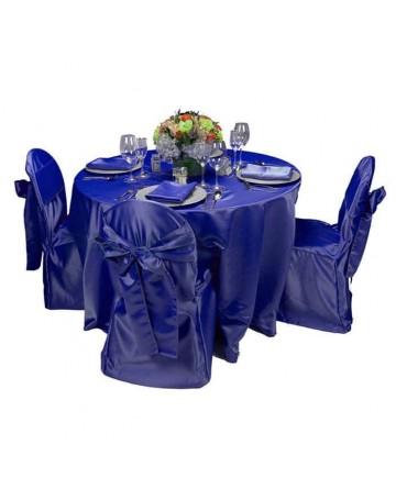 Blue Fabric Table Chair Cloth