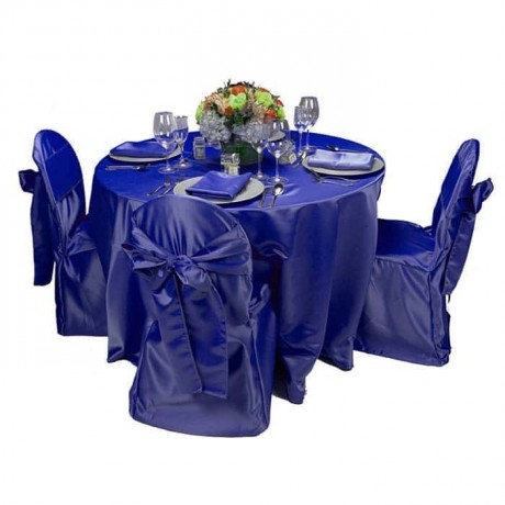 Mavi Kumaşlı Masa Sandalye Örtüsü - mst5021