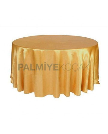 Yellow Color Round Table Cloth