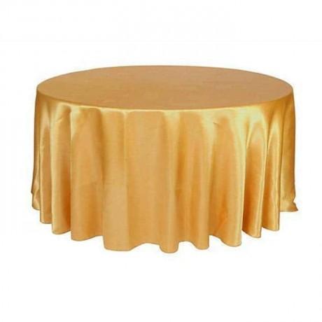 Sarı Renkli Yuvarlak Masa Örtüsü - mst5017
