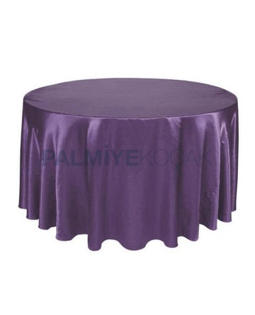 Satin Fabric Blue Color Organization Table Cloth