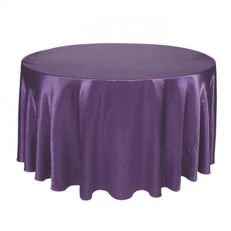 Satin Fabric Blue Color Organization Table Cloth - mst5016