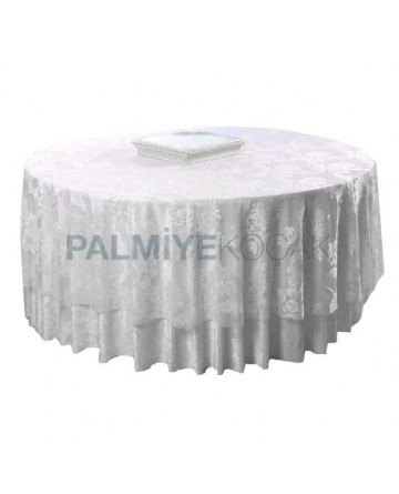 Tulled Satin Fabric Round Table Cloth
