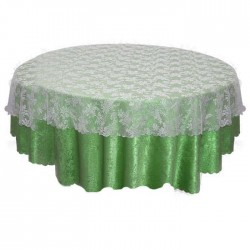 Green Patterned Lace Tulle Table Cloth