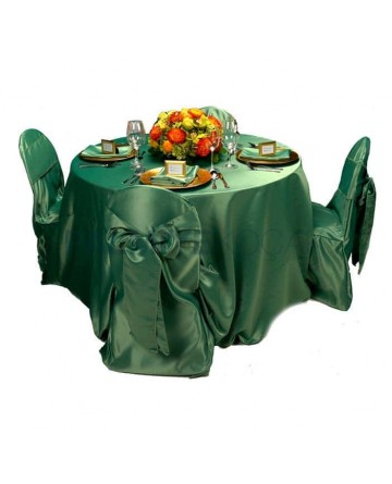 Green Satin Fabric Table Chair Cloth
