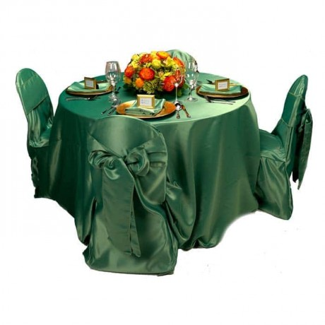 Green Satin Fabric Table Chair Cloth - mst5020