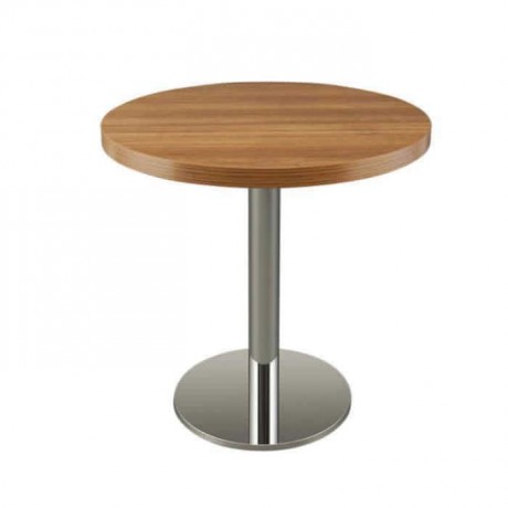 Wooden Walnut Colorful Round Cafe Table - mty8080