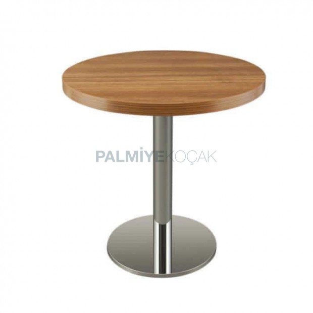 Wooden Walnut Colorful Round Cafe Table