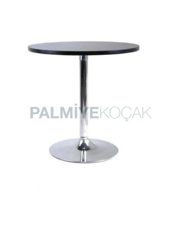 Chrome Table Topd Leg Black Lake Painted Round Table