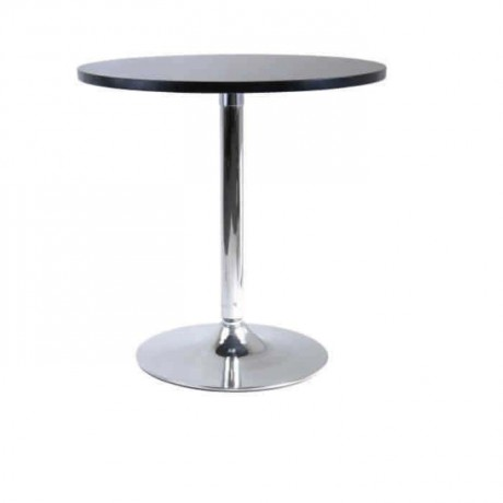 Chrome Table Topd Leg Black Lake Painted Round Table - mty8109