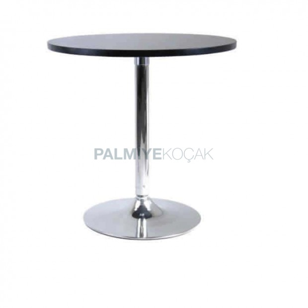 Chrome Table Topd Leg Black Lake Painted Round Table