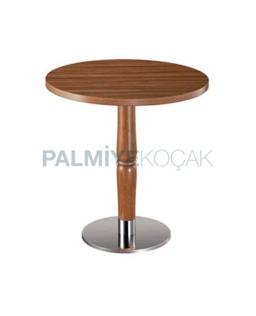 Oak Table Topd Round Cafe Table