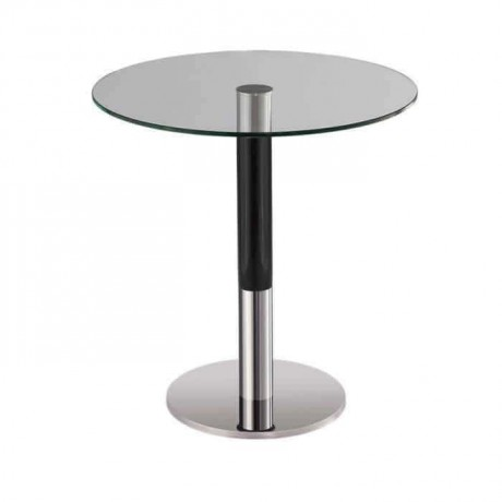 Stainless Steel Round Glass Table - mty8101