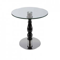 Black Lake Painted Glass Hotel Table