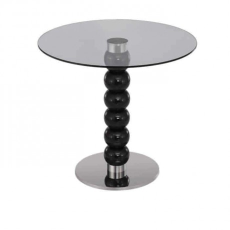Black Lake Turned Glass Cafe Table - mty8104