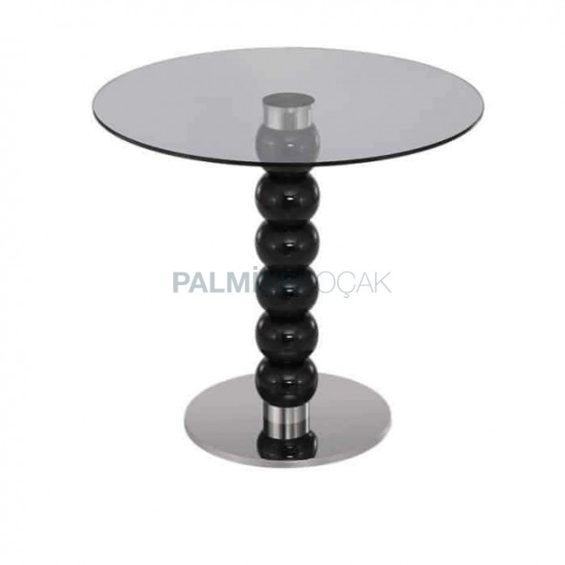 Black Lake Turned Glass Cafe Table