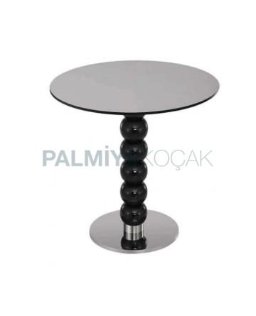 Turned Leg Metal Based Round Table