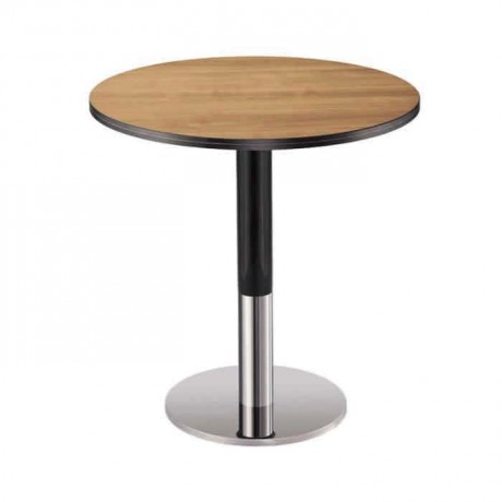 Round Antique Table Top Stainless Steel Leg Cafe Table - mty8083
