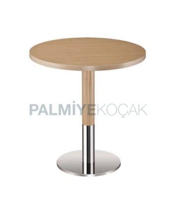 Round Metal Leg Hotel Table