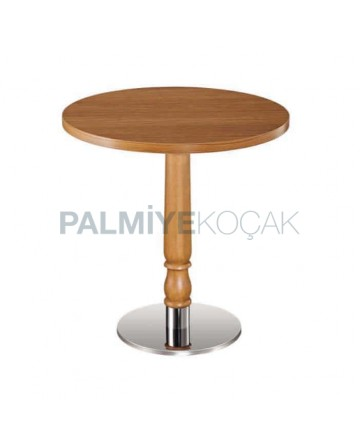 Round Table Top Metal Leg Hotel Table