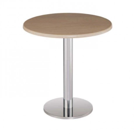 Round Verzalit Table Top Stainless Legs Table - mty8081