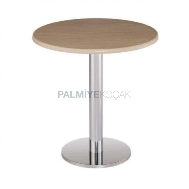 Round Verzalit Table Top Stainless Legs Table