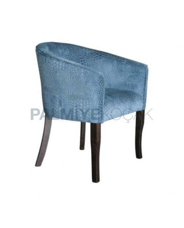 Blue Upholstred Cafe Armchair