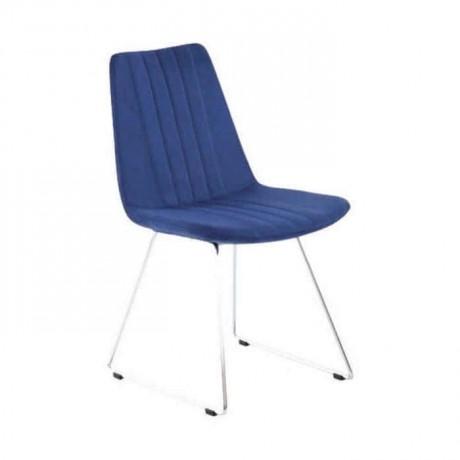 Mavi Kumaşlı Dilimli Poliüretan Metal Sandalye - psd241