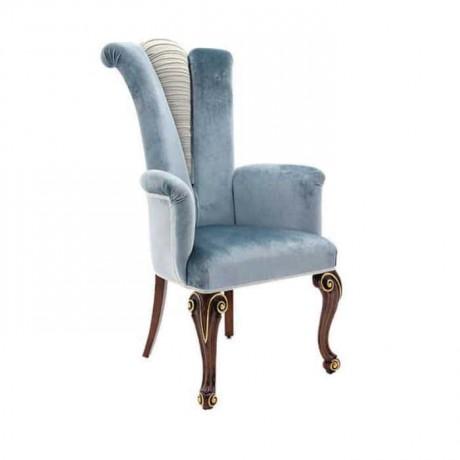 Mavi Kumaşlı Klasik Sandalye - ksak93