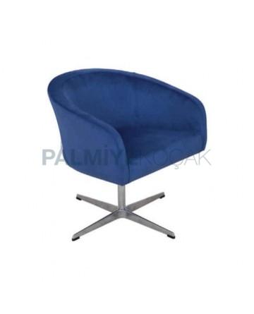 Blue Fabric Star Leg Polyurethane Chair
