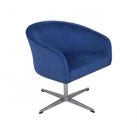 Mavi Kumaşlı Yıldız Ayaklı Poliüretan Sandalye - psd288