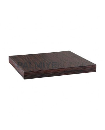 Square Ebony Cafe Mdflam Table Top