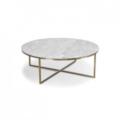 Gray Round Table with Granite Top Table