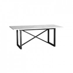 Cross Metal Black Footed Hotel Home Restaurant Marble Table