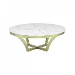 Round Granite Marble Metal Pedestal Hotel Table