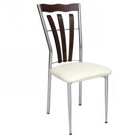 Wooden Decorative Chromed Chair - ams125