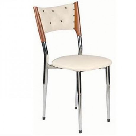 Wooden Leather Wooden Chair - ams06
