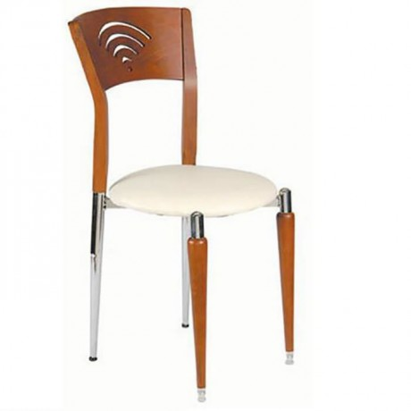 Wooden Chrome Luxury Chair - ams17