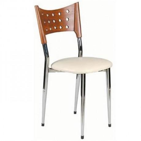 Metal Wooden Metal Chair - ams09