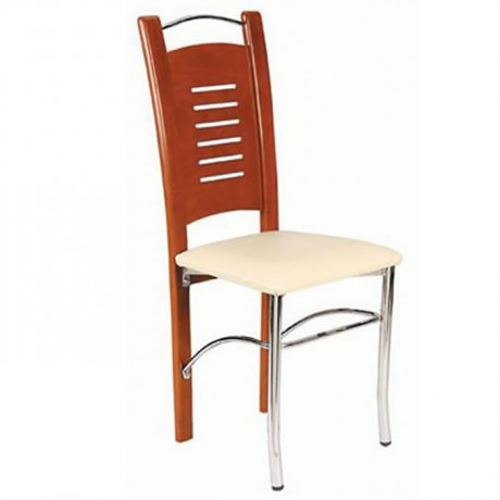 Birch Paint Colored Metal Chair - ams29
