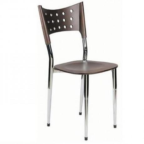 Kontralı Metal Krom Sandalye - ams10