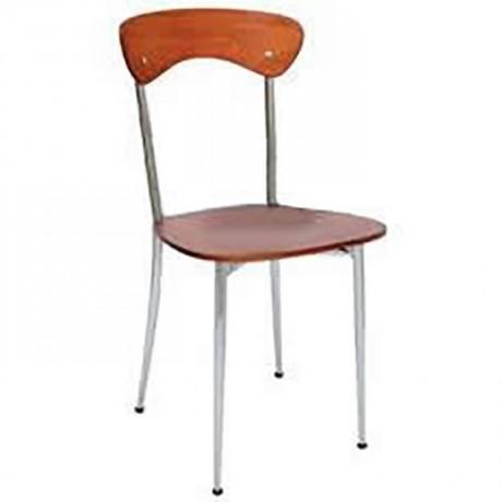 Kontralı Metal Krom Sandalye - ams87