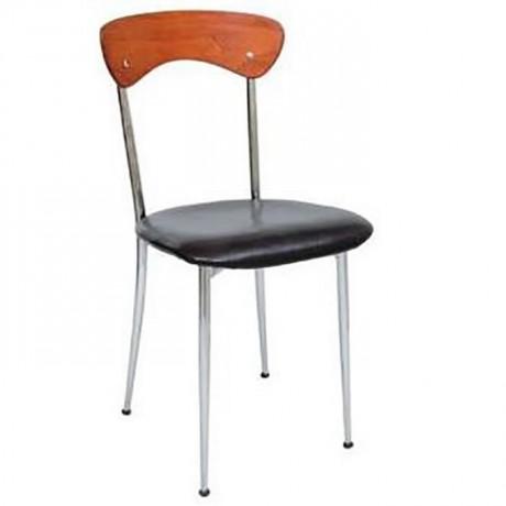 Krom Kaplı Metal Cafe Sandalyesi - ams86