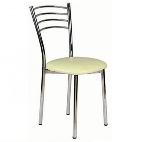 Krom Kaplı Metal Sandalye - ams37