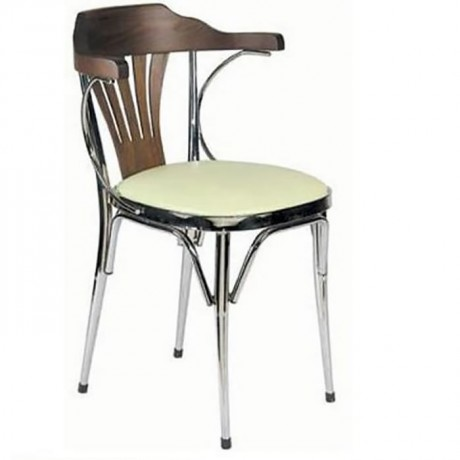 Metal Chair with Chrome Arm - ams03