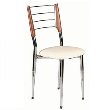 Chrome Nickel Wood Chair - ams26