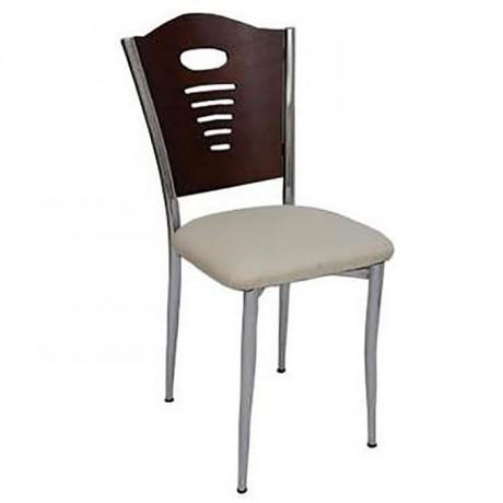 Kromajlı Metal Cafe Sandalye - ams102