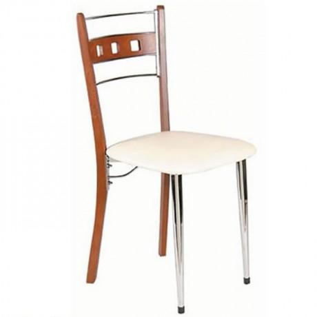 Metal Leg Wooden Chair - ams22
