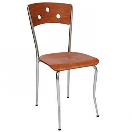 Papelli Walnut Painted Metal Chair - ams88