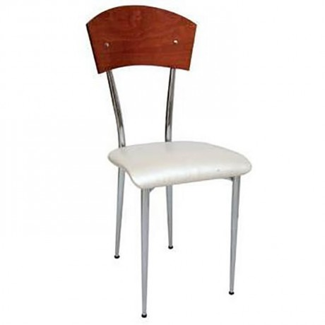 Backrest Seat Leather Seat Wooden Metal Chair - ams103